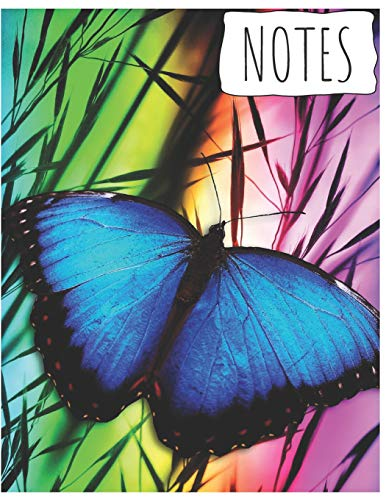 y Composition Notebook/Journal for Adult/Children Animals Lovers to Writing (8.5x11 Inch.) Wide Ruled Lined Paper 120 Blank Pages (BLUE&GREEN&PURPLE&ORANGE Pattern) ()