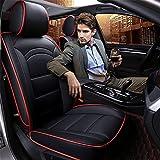DIELIAN Auto Sitzbezug Auto Sitzkissen 5 Sitze Full Set-Leicht zu reinigen PU Leder , black
