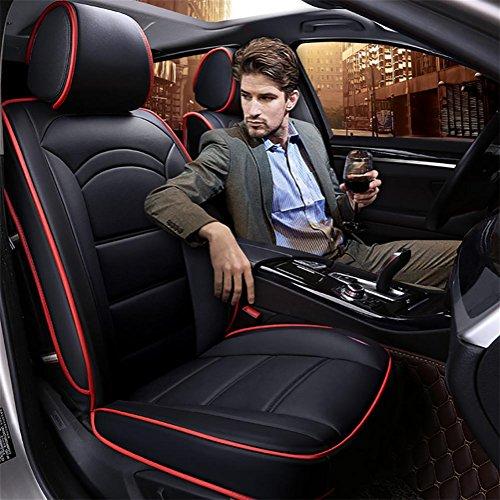 GAOFEI Auto Sitzbezug Sitzbezüge Schonbezüge Schonbezug Universal PU Leder,BLACK