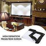 """Hanbaili Pantalla de proyector de interior de 100"""", pantalla de proyector de película 4: 3 para Home Cinema Theatre Presentation Educación Pantalla pública de interior al aire libre"""