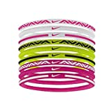 Nike Elastic Hairbands 9Pk 2.0 Haarbänder, White/Vivid pink/Volt, One Size