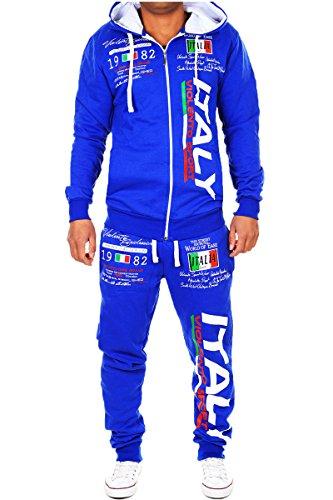 Herren Jogginganzug Bella Italia (XL, Blau)
