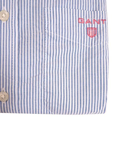 Gant La Prep Bel Air Oxford banquiers Mens Ls BD T-shirt Azur Blue