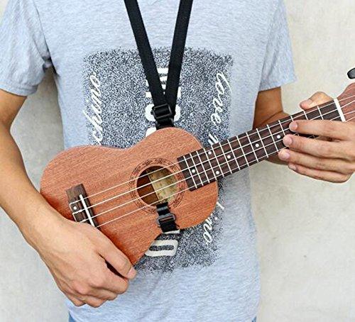 """Preisvergleich Produktbild EFORCAR Einstellbare Gitarre Ukulele-Bügel mit Haken für 21 """"23"""" 26 """"Schwarz"""