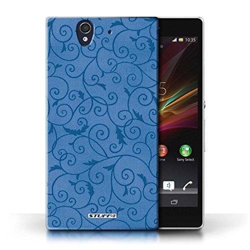 Kobalt® Imprimé Etui / Coque pour Sony Xperia Z / Turquoise conception / Série Motif de la vigne Bleu
