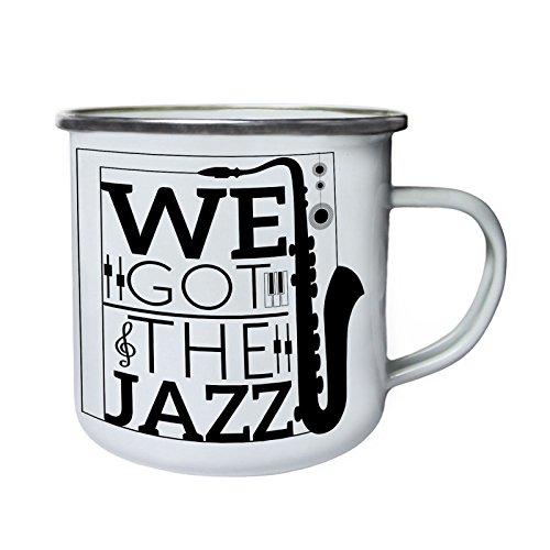 Wir haben Jazz Art Saxophon Retro, Zinn, Emaille 10oz/280ml Becher Tasse u460e