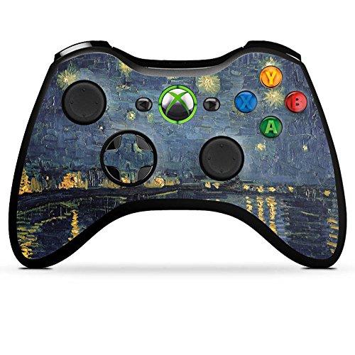 Preisvergleich Produktbild Microsoft Xbox 360 Controller Case Skin Sticker aus Vinyl-Folie Aufkleber Vincent Van Gogh Gemälde Kunst