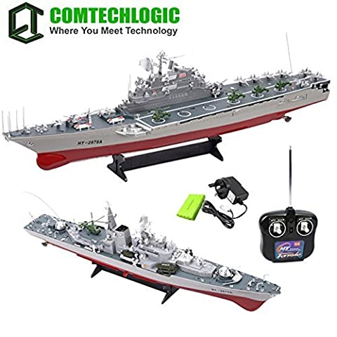 Comtechlogic® CM-2187 1:275 Scale Disintegrate Battleship Destroyer, Aircraft Carrier, Torpedo Boat RC Radio Remote Control Simulation Ship EP RTR (Aircraft Carrier)