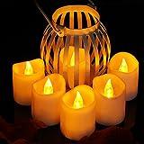 Toyvian Batteriebetriebene Kerzen | LED Elektrische Teelichter - 3,6 x 4,2 cm, 24er Set