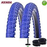 2 x Kenda K-51 BMX - Reifen Blau 20 x 2.25 58-406 + 2 Schwalbe-Schläuche AV7