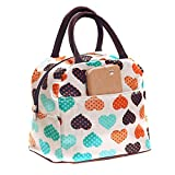wiederverwendbar Cute Love Herz Lunch Bag Tasche Lunch Organizer Lunch Halter Lunch Container Tragetasche für Reisen Camping Arbeit Schule Lunchbox