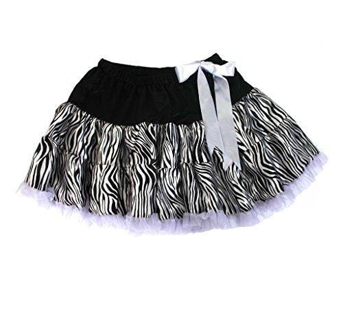 Rock Zebra Damenrock Kostüm (Kostüm Zebra Für Erwachsene)