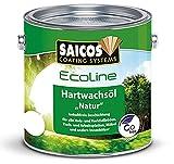 Saicos Ecoline - Olio di cera dura naturale 3602Eco semiopaca incolore, contenitore da 2,5 litri (etichetta in lingua italiana non garantita)