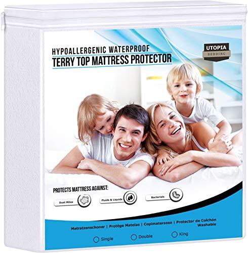 Utopia Bedding Protector de colchón Impermeable hipoalergénico Premium - Funda de colchón Equipada...