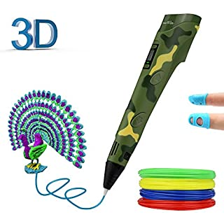 JAMIEWIN 3D Doodler Pen for Kids, 3D Printing Pen 1.75mm PLA/ABS Filament with 4 Bouns Refills DIY