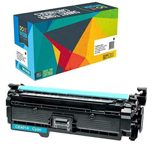 Do it Wiser Kompatibel Toner CE401A für HP 500 Color M551 M551n M551dn M551xh MFP M570 M570dn M570dw M575 M575c M575f M575dn (Cyan) -