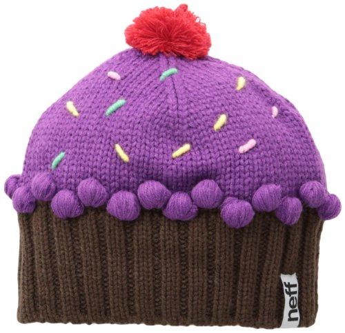 Neff Damen Mütze Cup Cake Beanie, damen, Cupcake, Neon Violett