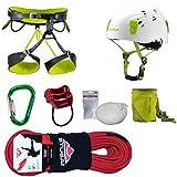 Camp Kletter-Set 6.1 - Gurt Gr.L + Kletterseil 50m + Kletterhelm 54-62cm + Salewa Karabiner + Tube + Chalkball + Chalkbag
