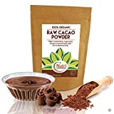 RAW ORGANIC CACAO POWDER, Pure Nutritious Vegan Dark Chocolate Ingredient, Premium Quality Magnesium Rich Superfood, Sugar Free, Delicious and Ideal for Baking, Power Smoothies & Protein Bars - 200g
