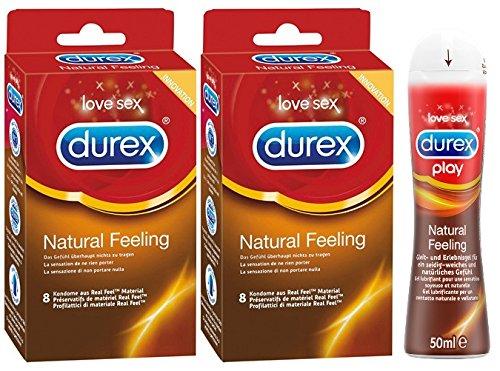 Durex Natural Feeling Vorteilsset - Groß mit 3 Artikeln