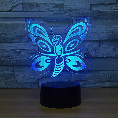 b neue schmetterling lichter 7 farbe visuelle lampe geschenk weihnachtsschmuck nachtlicht ()
