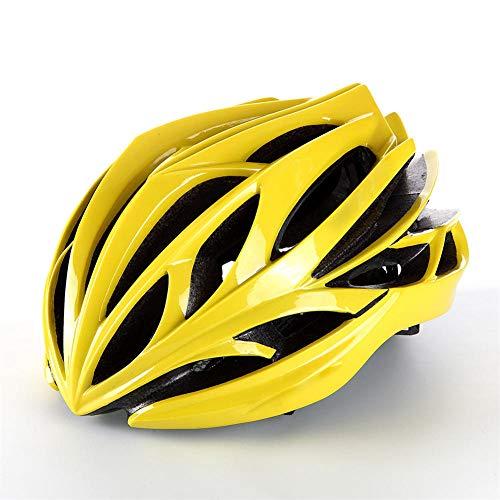Pkfinrd Fahrradhelm Mountainbike fahrradhelm männer und Frauen Sicherheit fahrradhelm Mountainbike Fahrrad leicht schlagfester Helm hohl atmungsaktiv verstellbar@Gelb_Eine Größe