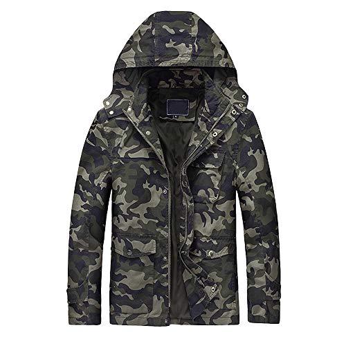serliyHerren Tactical Camouflage Softshelljacke Herbst Winter Outdoor Armee Military Fleecejacke Wasserdicht Winddicht Warm Mit Kapuze Trekking Wander Skijacke Jagd Mantel