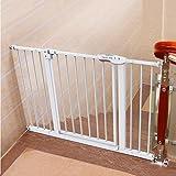 Auto Schließen Druck Mount Baby Tor Für Treppen Flure Türen Metall Weiß Extra Breit und Hoch, 82-200 cm Breit, Höhe 100 cm (Größe : 112-120cm)