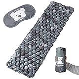 BEARFOOT Ultraleichte Schlafmatte Isomatte Luftmatratze mit Luftzellen für Outdoor Camping, Reisen, Hiking, Backpacking, Strand - ultrakompakt (Camouflage grau)