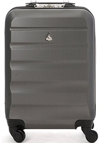 Aerolite Super Lightweight Hard Shell Carry On Cabin Hand Luggage Suitcase , Charcoal