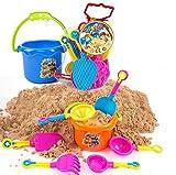 Beauty DIY Mart 9Pcs Juguetes de Playa Arena, Castillo Cubo Juguetes...