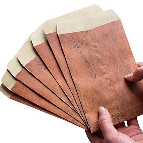 Yhcean - 10 bolsas de papel kraft estilo vintage (marrón)