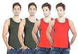 Bodysense Green & Red Men's Coton Gym Ve...