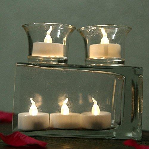 Atcoe luz de las velas LED Warm White Flameless parpadeo parpadeo velas ligeras del té, paquete de 24 pilas