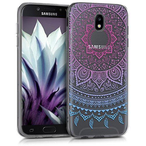 kwmobile Samsung Galaxy J5 (2017) DUOS Hülle - Handyhülle für Samsung Galaxy J5 (2017) DUOS - Handy Case in Blau Pink Transparent