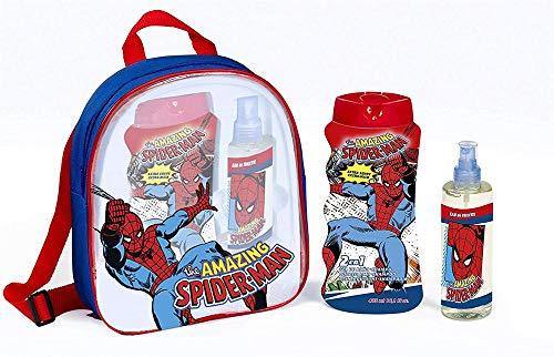 Marvel The Amazing Spiderman Geschenkset EDC, 2 in 1 Schaumbad, Shampoo und Tasche, 1er Pack (1 x 3 Stück) -