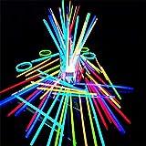 Barra fluorescente I bagliori di incandescenza di 100PCS sono forniti dei connettori, dei bastoni di incandescenza, delle collane luminose, dei braccialetti, dei colori misti affinchè bambini usino pe