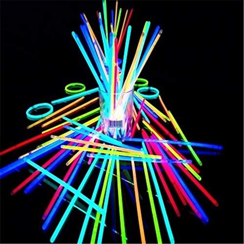 Leuchtstäbe 100PCS Werden mit Verbindungsstücken, Leuchtstäben, leuchtenden Halsketten, Armbändern, Mischfarben für die zu verwendenden Kinder ausgerüstet LED Strobe Stick für Party