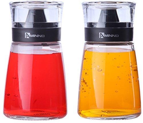 Dispensadores aceite vinagre Cruets 171G–cristal