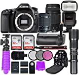 Canon Eos 80D 24.2MP STM Lens 18-55mm/EF 75-300mm f/4-5.6 III Lens CMOS Full HD WiFi Enabled Digital SLR Camera with 2 32GB Class 10 SD Memory Card