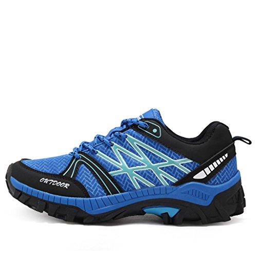 AIMOGE Scarpe da trekking scarpe da uomo scarpe da arrampicata antiscivolo Blu