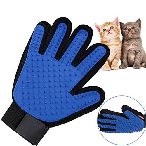 Pet Grooming Gloves Set, 2Er Pack Deshedding Glove, Effiziente Pet Mitt Pet Massage-Handschuhe, Pet Bathing Brush Comb - Beruhigende Dusche Öl