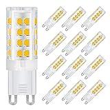 DiCUNO G9 LED Lampe 4W, Ersatz für 40W Halogen Lampen, Warmweiß 3000K, AC 220V, 400 LM, Nicht Dimmbar (12-er Pack)