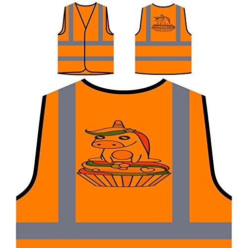 Pastel De Unicornio Mágico Chaqueta de seguridad naranja personalizado de alta visibilidad o870vo