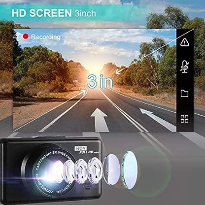 Dashcam-Autokamera-Full-HD-1080P-Videorecorder-mit-170-Weitwinkelobjektiv-G-Sensor-WDR-Bewegungserkennung-Parkmonitor-Loop-Aufnahme-Nachtsicht