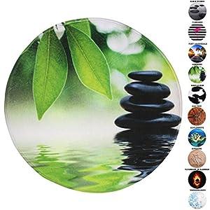 Sanilo Badteppich Rund, viele schöne runde Badteppiche zur Auswahl, hochwertige Qualität, sehr weich, schnelltrocknend, waschbar, 80 cm (Harmony, 80 cm)