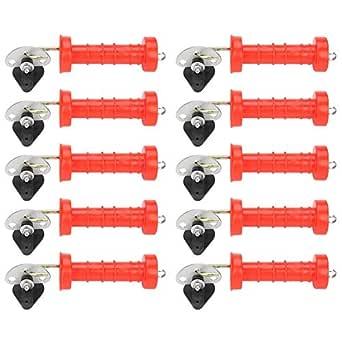 Elektrozaun 500x Ringisolator im Sonderangebot mit Einschraubhilfe /& Warnschild