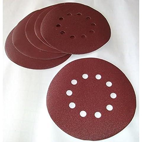 Matrix MXPT-130210020 Set de 10 Papiers à poncer 6 Grains pour DWS 600/710/1200