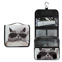 XZY Home Kulturbeutel Nette Katze Multifunktions Kosmetiktasche Sonnenbrille Rock Tragbare Make-Up Tasche Reise Hängen Veranstalter