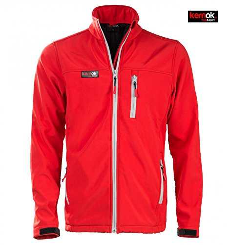 Chaqueta Calefactable Soft Shell Chico roja